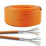 VOKA 100m CAT 7 Netzwerkkabel Duplex LAN-Kabel Ethernet Datenkabel S/FTP PiMF PoE 2X 4x2xAWG23 Verlegekabel Installationskabel Cat.7 1000MHz