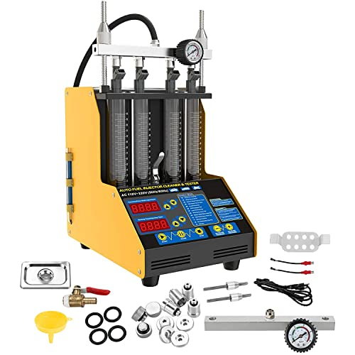 Ultrasonic Wave Fuel Injector Cleaner and Tester 4-Cylinder Automotive Fuel Injector System Cleaning...