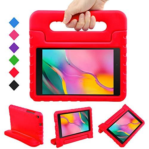 LEADSTAR Funda para Samsung Galaxy Tab A 8.0 2019, Ligero y Super Protective Antichoque EVA Estuche Protector Diseñar Especialmente Manija Caso con Soporte para los Niños, SM-T290 / T295 (Rojo)