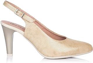 d55b4cc649b PITILLOS 5570 Zapato Talon Abierto Vestir Mujer