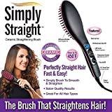 Shopilla Simply Straight Women's 2 in 1 Ceramic Hair Straightener Brush