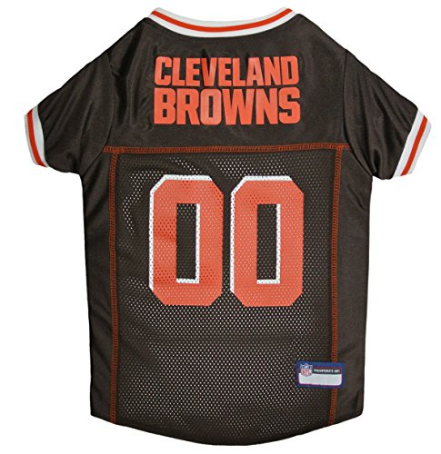 NFL CLEVELAND BROWNS DOG Jersey, Small Shirt Apparel Jersey Cute Outfit for DOGS, CATS, Puppies, Kittens & Small Animals