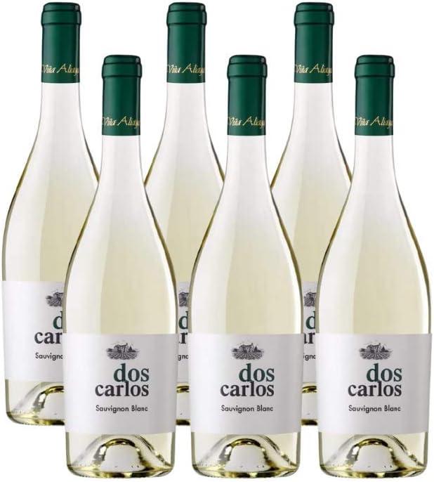 Aliaga Doscarlos Sauvignon Blanc 2019 (Pack 6 botellas). Vino blanco de Navarra de la bodega Viña Aliaga. 100% Sauvignon Blanc