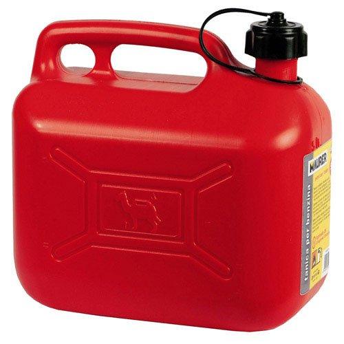 Maurer 2325585 Bidón Gasolina (10 litros, homologado), rojo