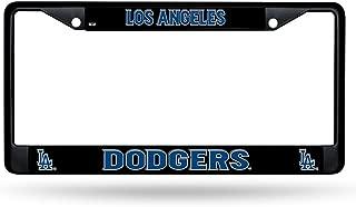 Rico Los Angeles Dodgers LA Black Metal Chrome License Plate Tag Frame Cover Baseball
