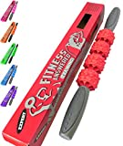 The Muscle Roller Stick Massage Stick Roller | Foam Roller Alternative for Athletes and Runners - Neck and Back - Advanced Red
