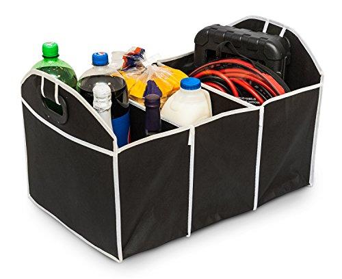 2 in 1 Kofferraum-Organizer  Aufbewahrungstasche und Shoppingtasche, zusammenklappbar, 3 - Pack