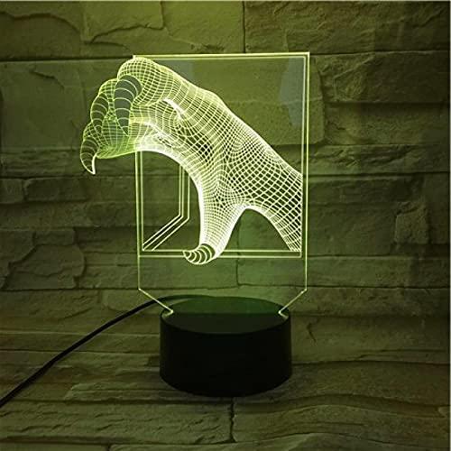 Modelo Luminoso De Garra De Águila Con Luz Led 3D, 7 Colores...