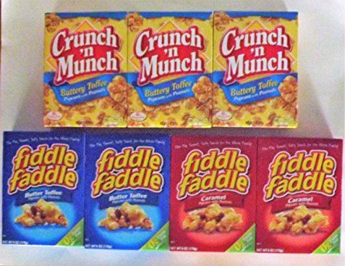 Review Of Fiddle Faddle Crunch 'n Munch Bundle - total 7 boxes