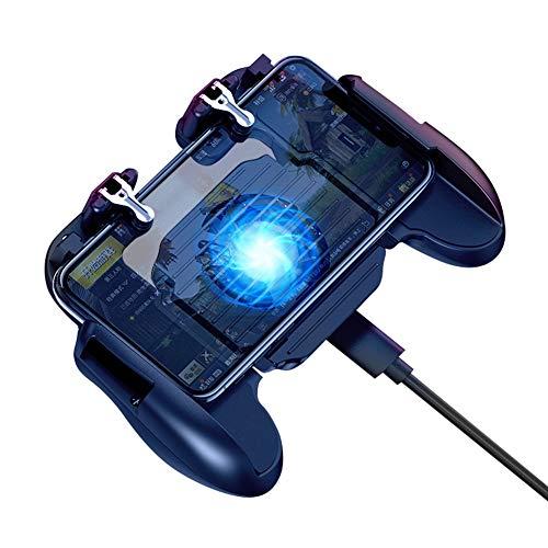 litty089 Joysticks Game Controller H5 Teléfono Móvil Gamepad Grip Controller Botón De Encendido Ventilador De Enfriamiento para PUBG Negro H5