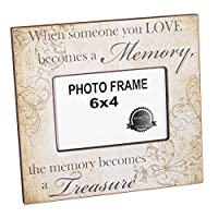 Someone We Love Becomes a Memory Bereavement 4 x 6 Picture Frame Plaque by Adams Manufacturing