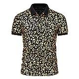 Polo Shirt Hommes Sport Casual Golf Baseball Hommes Chemise de Sport à Manches Courtes imprimé...