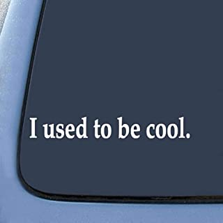 XuBa I Used to Be Reflective Car Decals Decoration White