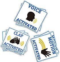 Voice Motion & Clap Activated Prank Stickers 60 Pack,Make Your Friends Publicly Yell & Vigorously Jazz Hand at Vending Machines & Doors.Funny Gag Gift for Huge Laughs Practical Hilarious Sign Tags