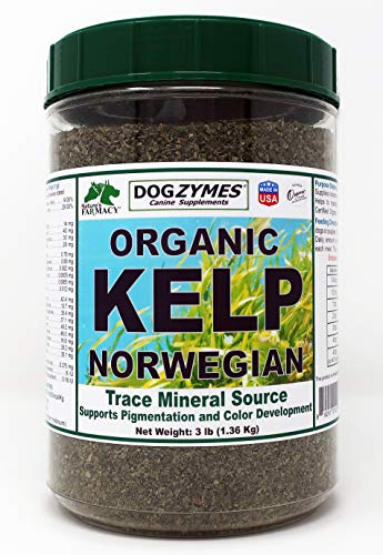 Dogzymes Organic Norwegian Kelp for Pets, a Valuable Nutrition Source Rich in Iodine to Support Gland Function, Especially The Thyroid (3 Pound)