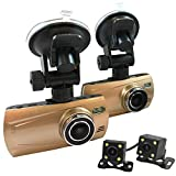 4 Cam 1080P Trucker Dash Cam - Record from 4 viewpoints Optional GPS, 32GB Memory Card (with 2 SD Cards), Add GPS Antenna, No Additional Warranty