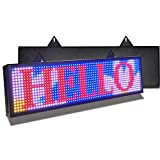PH10mm Led Sign 26 x 8 inch Led Scrolling Message Display RGB Full Color Digital Message Display Board Programmable by WiFi & USB with SMD Technology for Advertising and Business