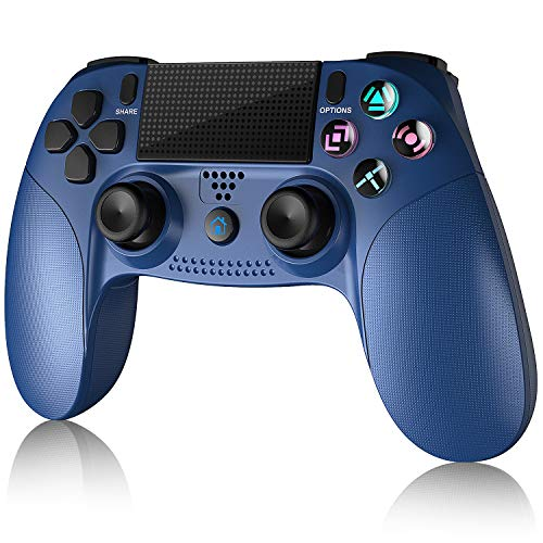 Gamory Wireless Controller P4,Dual Vibration Shock 4 Kabelloser Gamepad,Anti-Rutsch Griff und Bluetooth Gamepad mit Rechargable Remote Audio Buchse