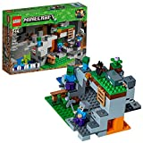 LEGO Minecraft The Zombie Cave 21141 Building Kit with Popular Minecraft Characters Steve and Zombie Figure, separate TNT Toy, Coal and more for Creative Play (241 Pieces)