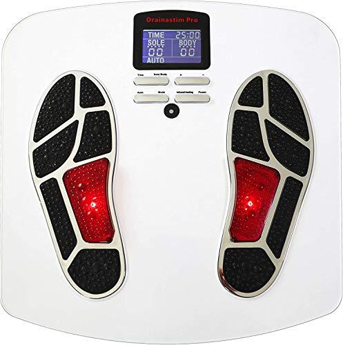 Kreislauf-Stimulator – Elektrostimulation der Muskulatur – Medizinisches Gerät – Reaktiviert die Durchblutung – Entspannt die Beine – Bekämpft Krampfadern und Schmerzen – Drainastim Pro