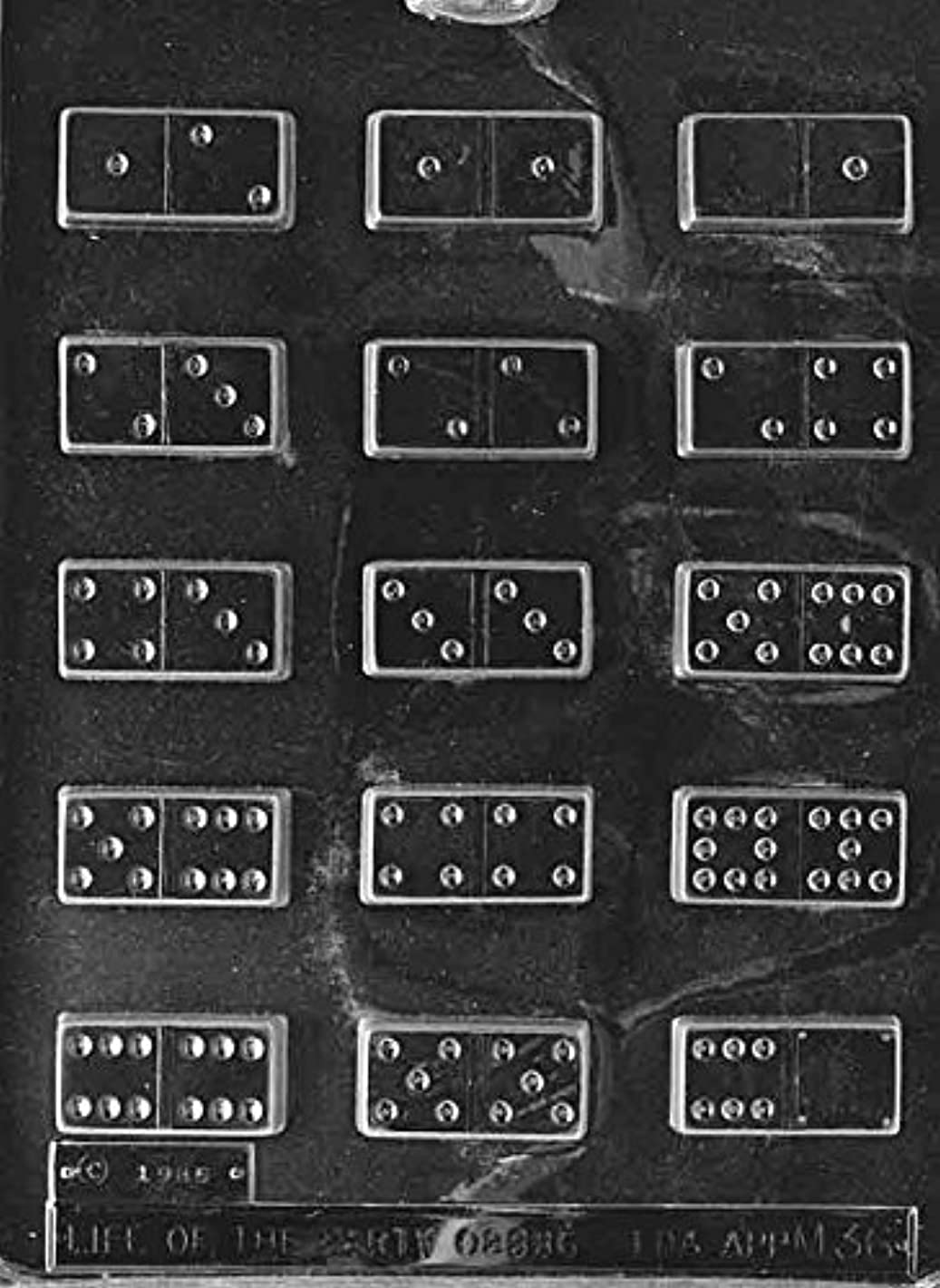 Dominoes Chocolate Mold - M036 - Includes Melting & Chocolate Molding Instructions