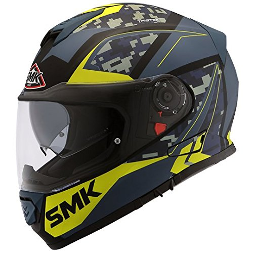 SMK MA258 Twister ZEST Graphics Pinlock Fitted Full Face Helmet With Clear...