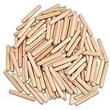 100 pezzi Tasselli Legno 6mm x 40 mm Twill Scanalati Tasselli in Legno scanalati in legno Tasselli di legno di faggio per Mobili Fai da Te Falegname Dilettanti Attrezzi fai da te