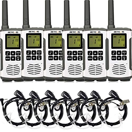 Retevis RT45 Walkie Talkies with Earpiece License-Free Crystal Sound Two Way Radio (6 Pack)