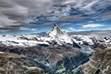 Unbekannt Puzzle Erwachsene 1000 Teile - Matterhorn Landschaft - DIY Freizeit Creative einzigartiges wohnkultur Kind Puzzle Spielzeug Geschenk 70x50CM