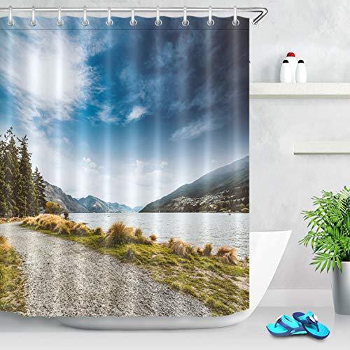 cortinas baño paisajes