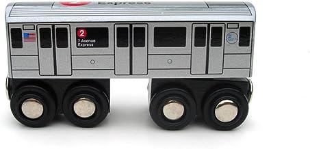 Munipals MP01-1102 Wooden Subway Train New York City MTA NYC-2 7th Avenue Express
