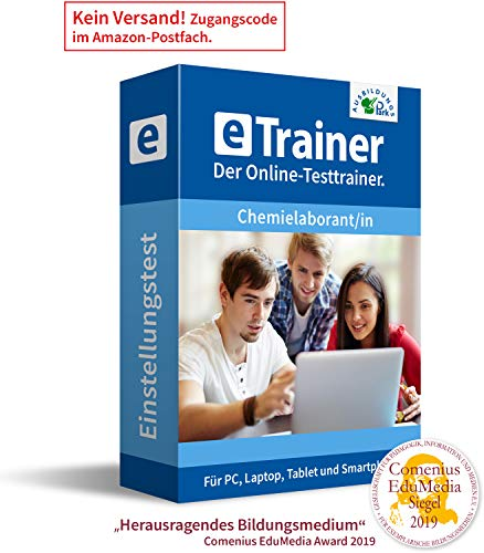 Chemielaborant Einstellungstest 2020: eTrainer – Der Online-Testtrainer | Über 1.400 Aufgaben mit Lösungen: Allgemeinwissen, Deutsch, Mathematik, logisches Denken, visuelles Denken und mehr