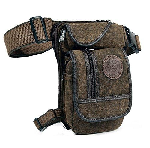 Outdoor Hüfttasche Beintasche Gürteltasche Bauchtasche Reittasche Motorrad- und Fahrrad-Tasche Robust Leg Bag Tactical Military Look (Olivebraun)