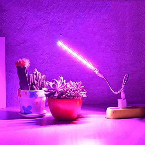 SPORETE LED USB-Vollspektrum-Anlage Wachsen Licht, Wachsen-Lampe Für Sämlinge Hydroponics, Pflanze Wachsen Leichte Indoor Alle Wachsenden Pflanzen, Sämling, Sukkulenten,Weiß