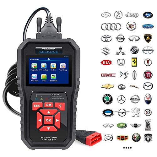 SEEKONE OBD2 Scanner Professional Car OBD II Scanner Auto Diagnostic Fault Code Reader Automotive Check Engine Light Diagnostic EOBD Scan Tool for All OBDII Protocol Cars Since 1996(Enhanced SK860)