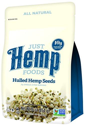 Just Hemp Foods, 100% Natural Hulled Hemp Seeds, 4lb Multi-Pack (4 x 16 oz.)