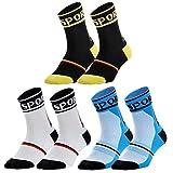 nuoshen - 3 pares de calcetines deportivos, unisex, transpirables, para hacer ciclismo, senderismo,...
