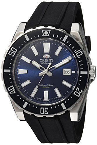 Orient Men's Nami Stainless Steel Japanese-Automatic Diving Watch with Rubber Strap, Black, 23 (Model: FAC09004D0)