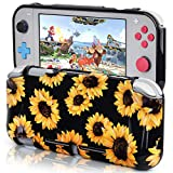 CAGOS Protective Case Compatible with Nintendo Switch Lite, Hard Shell TPU Grip Skin Case Cover Shock-Absorption and Anti-Scratch Non-Slip Travel Case Nintendo Switch Lite Accessories - Sunflower