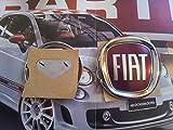 Fiat fregio Stemma Logo Posteriore 500 Cinquecento Croma Panda 2012 Originale 95mm Sigla