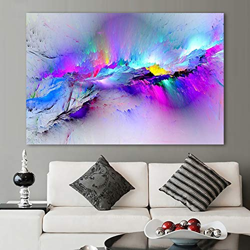 KWzEQ Canvas Painting Abstract cloud pictures posters and home decorationfor living room50x75cmFrameless painting