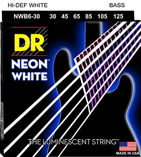 Dr Strings nwb630 30–125 Medium Set Handmade Neon High Definition weiß beschichtet saitigen Bass Saiten