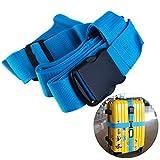 NUOLUX Gepäckgurt Kofferband Rutschfest Kreuz Gepäck Strap(Blau)