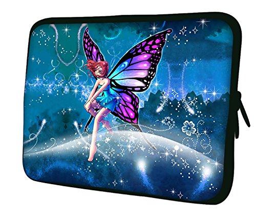 Ektor Hülle/Sleeve/Tasche für 25,4-44,7 cm (10-17,6 Zoll) Laptops/Notebooks, in unterschiedlichen Mustern & Größen erhältlich (Teil 2 von 3) Rosa Fee 13