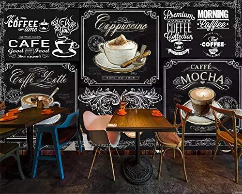 Papier Peints,Vintage Tableau Dessiné À La Main Café Série Creative 3D Personnaliser Le Papier Peint Peinture Murale Art Print Affiche Impression HD Photo Grande Murale en Soie pour Le Salon La Ch