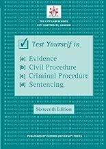 اختبار نفسك في الأدلة ، إجراء الأهلية ، للمجرمين إجراء & sentencing (شريط blackstone اليدوي)