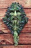 Ebros Nature Spirit God Celtic Winter Solstice Greenman Hanging Wall Decor Plaque 12.75' High Wiccan Tree of Life Forest Shepherd Horned God Cernunnos Ent Mythical Fantasy Decorative Sculpture