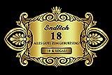 Oblique Unique® Aufkleber Flaschenetikett Etikett 18 Geburtstag Gold elegant