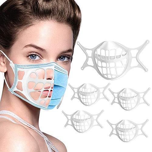 Staffa 3D per il viso, morbida e riutilizzabile e lavabile, anti-appannamento, supporto interno per la protezione del viso e gli occhiali