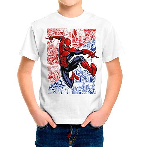 Camiseta Niño Superhéroes Spiderman (Blanco, 3 años)